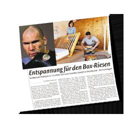 Bett für Boxweltmeister Walujew